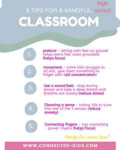mindful tips for high school classroom